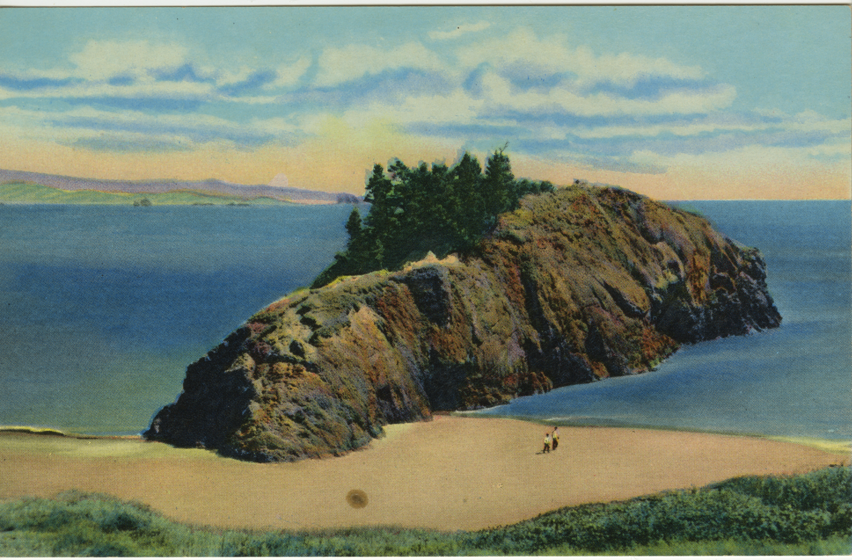 Battle Rock Colorized Postcard - Christians Photochrom
