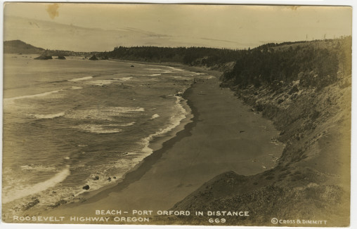 Beach - Port Orford In Distance - Cross Dimmitt