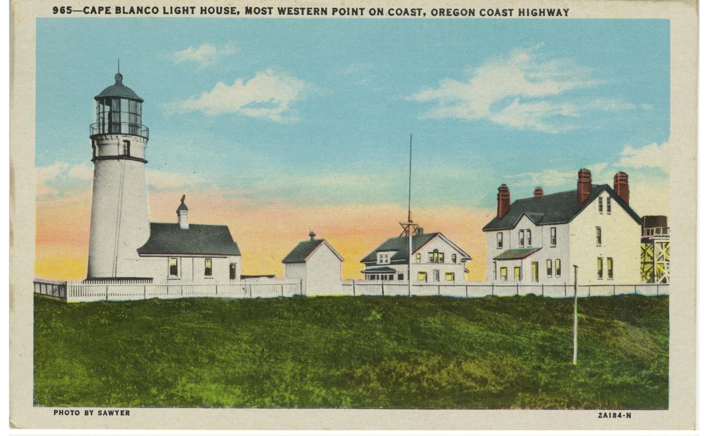 Cape Blanco Light House Most Western Point On Coast - Sawyer