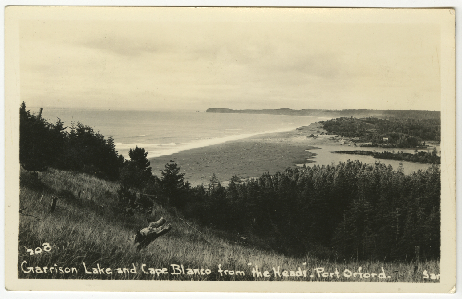 Garrison Lake and Cape Blanco from the Heads - Port Orford - Sands