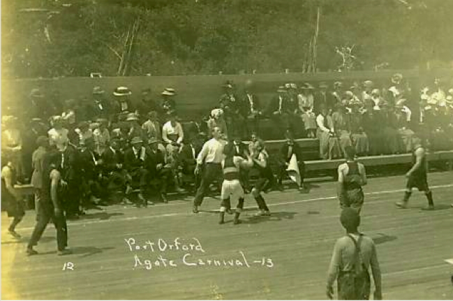 Boxing match at the Port Orford Agate Festival.