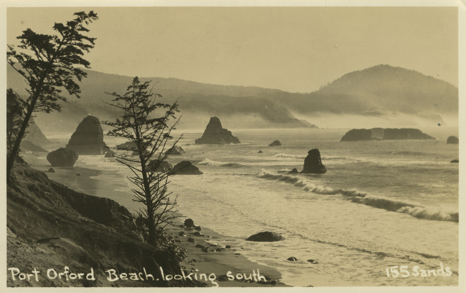 Port Orford Beach Looking South - Sands