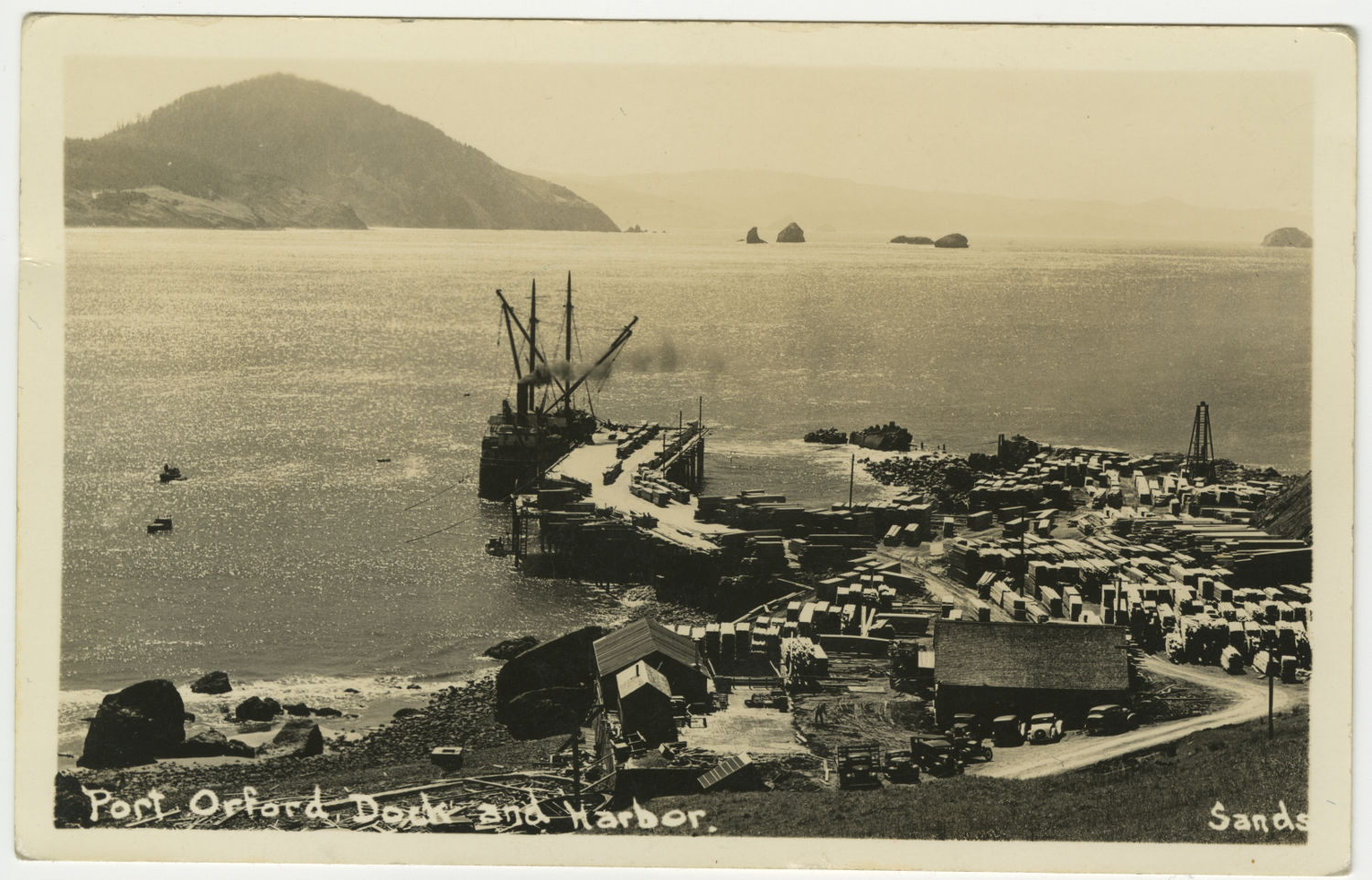 Port Orford Dock and Harbor - Sands