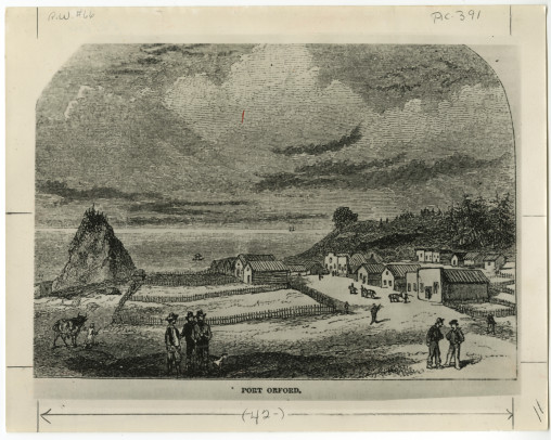 City of Port Orford Illustration for Harper's Magazine, 1856