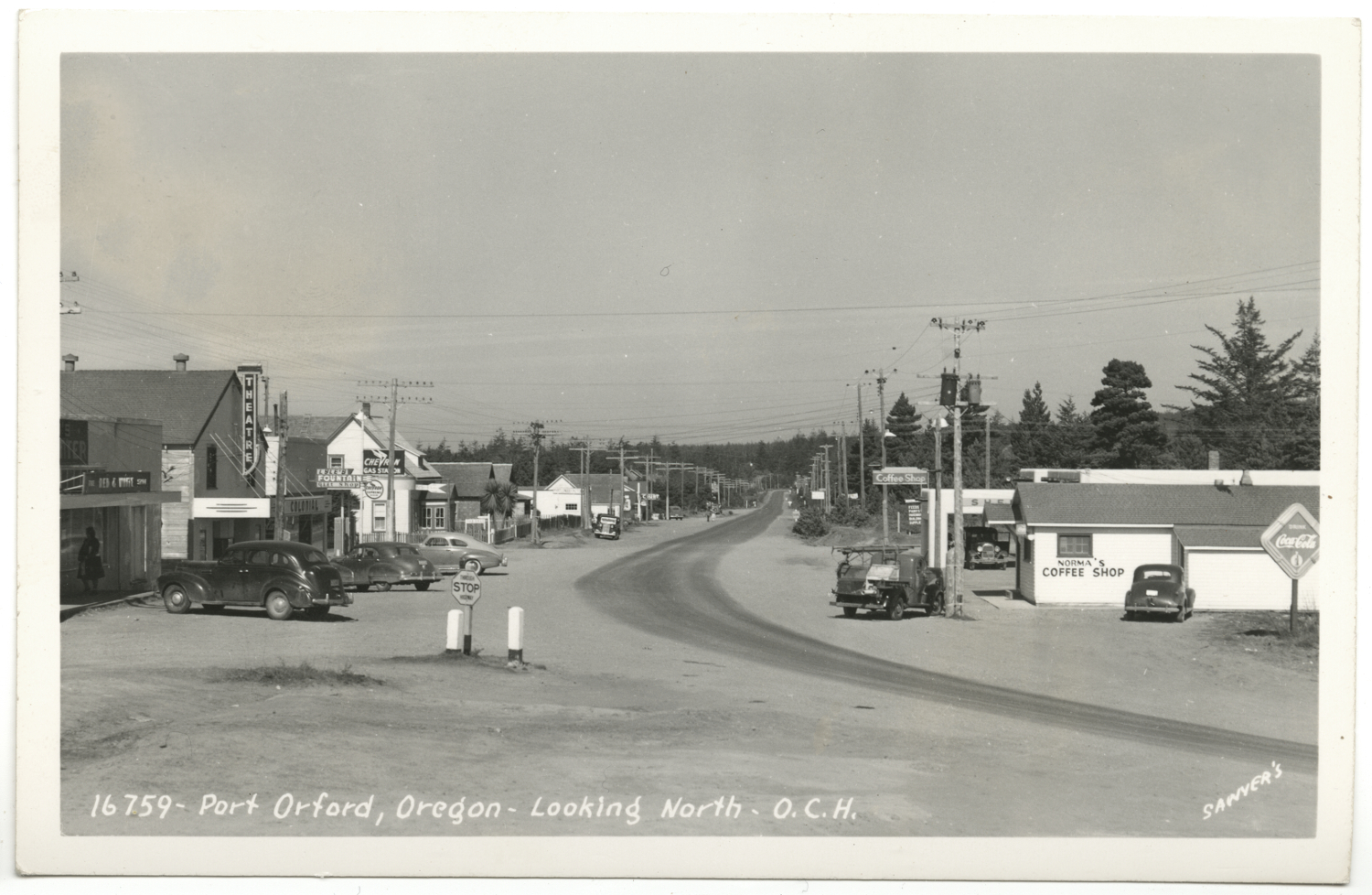 Port Orford Oregon - Looking North - Sawyers Collection