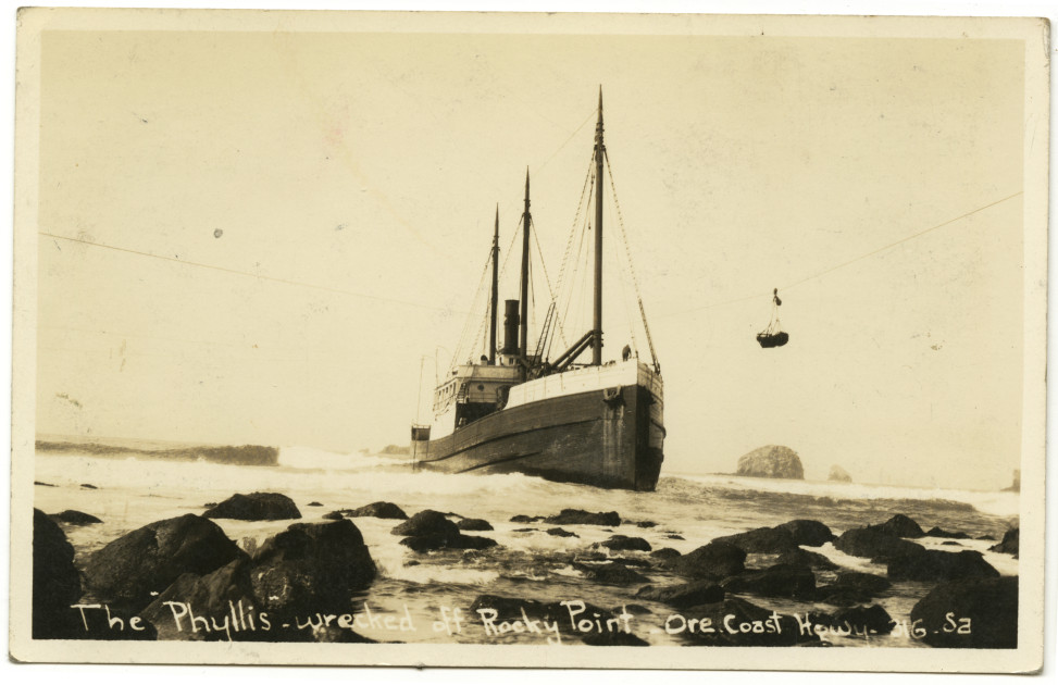 The Phyllis - wrecked off Rocky Point - Ore Coast Highway