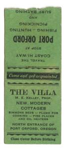 The Villa Matchbook