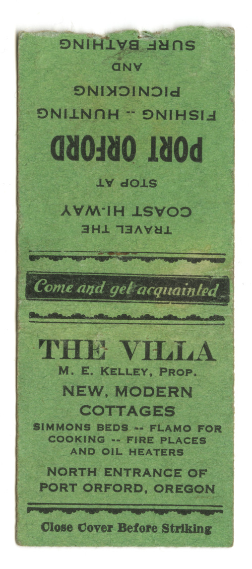 The Villa Matchbook