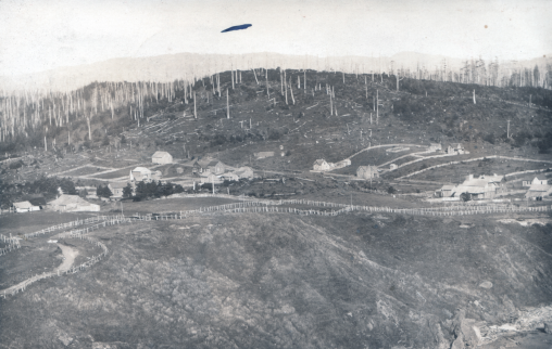 The snags from the 1868 fire are visible in this photo taken in 1902.