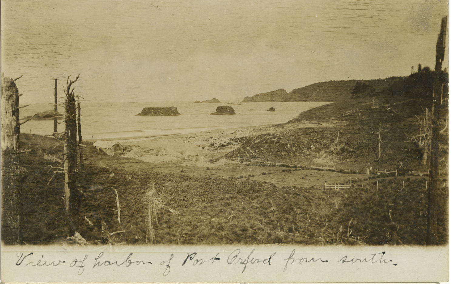View of Harbor of Port Orford from South