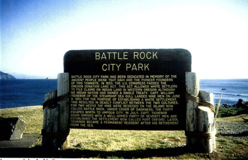 Battle Rock Sign — photo by Linda L. Nading