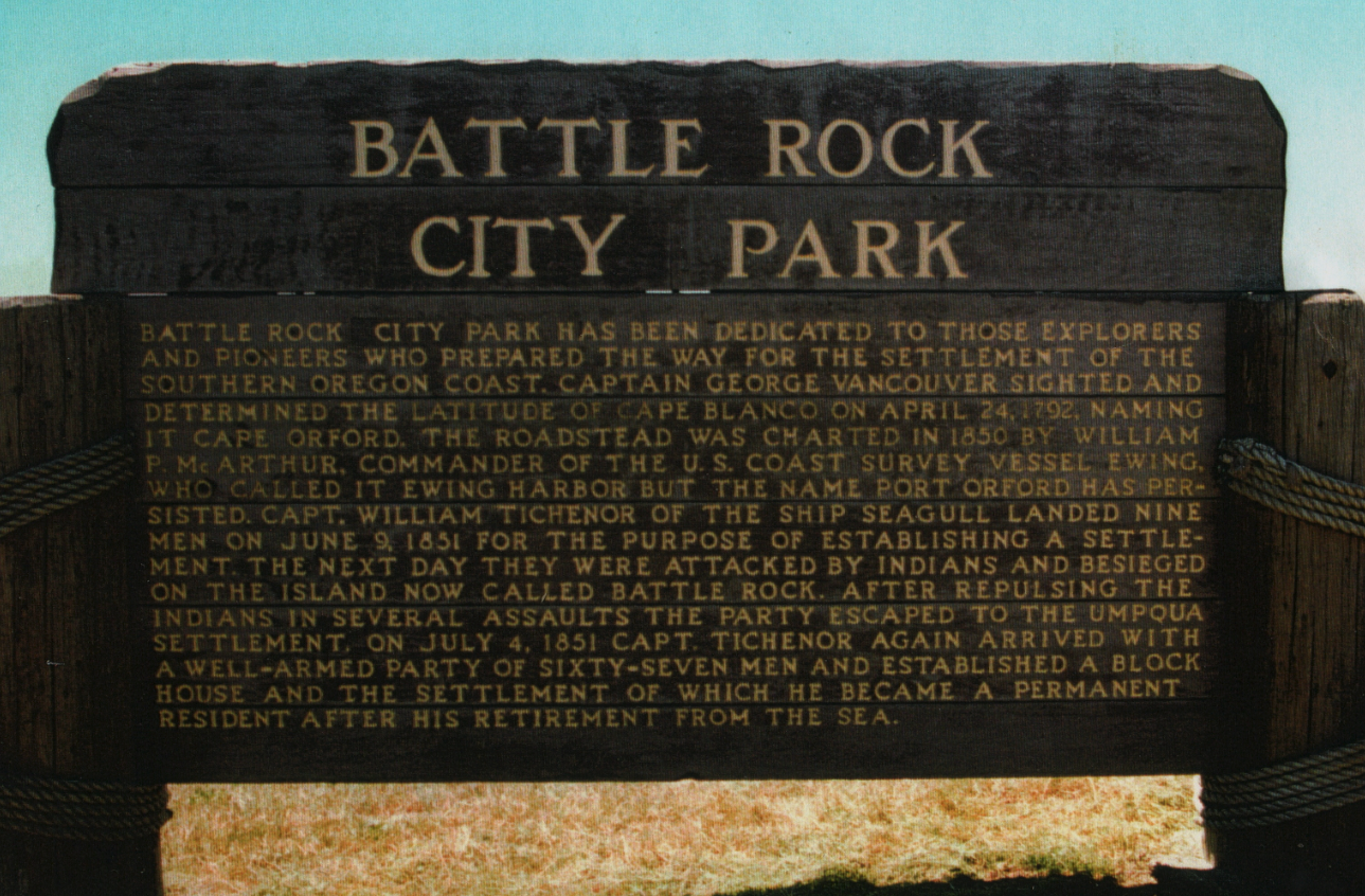 Battle Rock Wayside sign c1970s