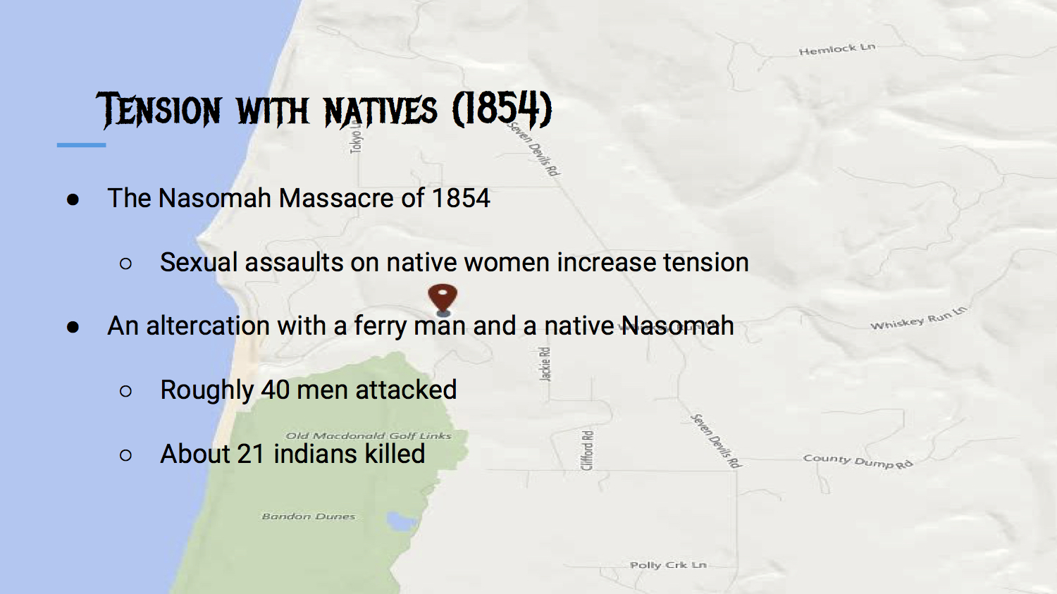 Tension With Natives (1854)