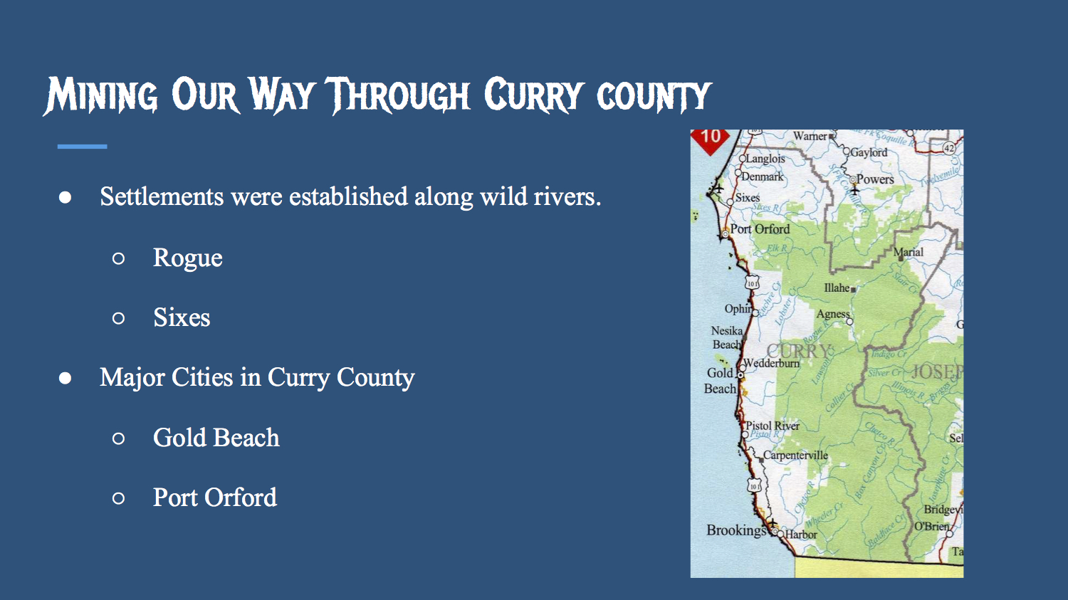 Mining Our Way Through Curry County