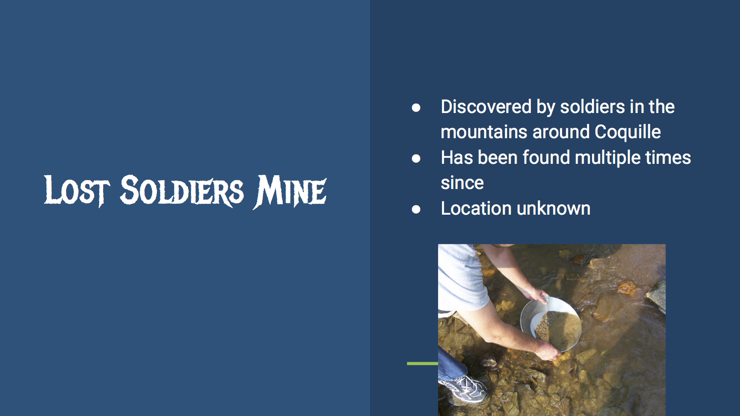 Lost Soldier's Mine