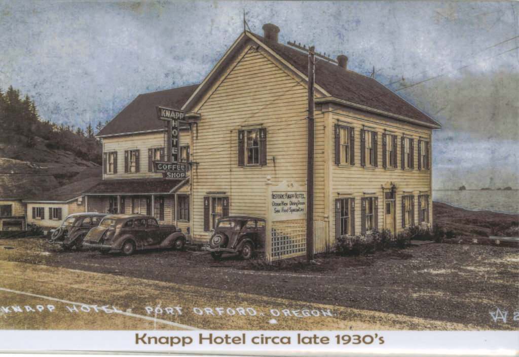 Knapp Hotel Circa 1930s - Photo-retouched and Colorized by Lance Nix