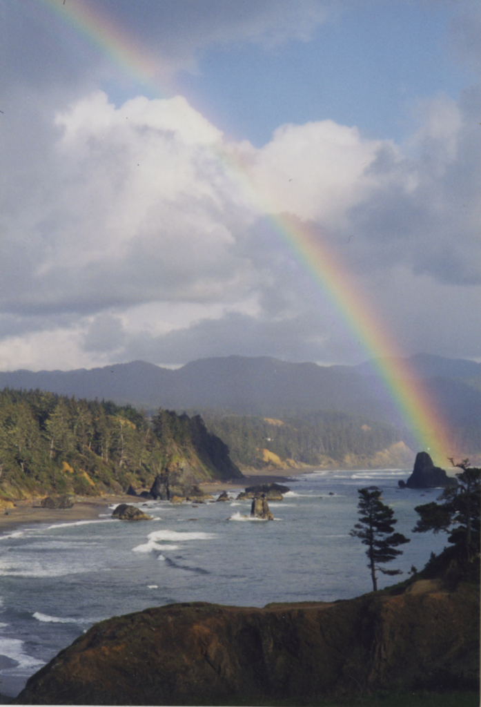 Rainbows Over Port Orford by Alan Mitchell