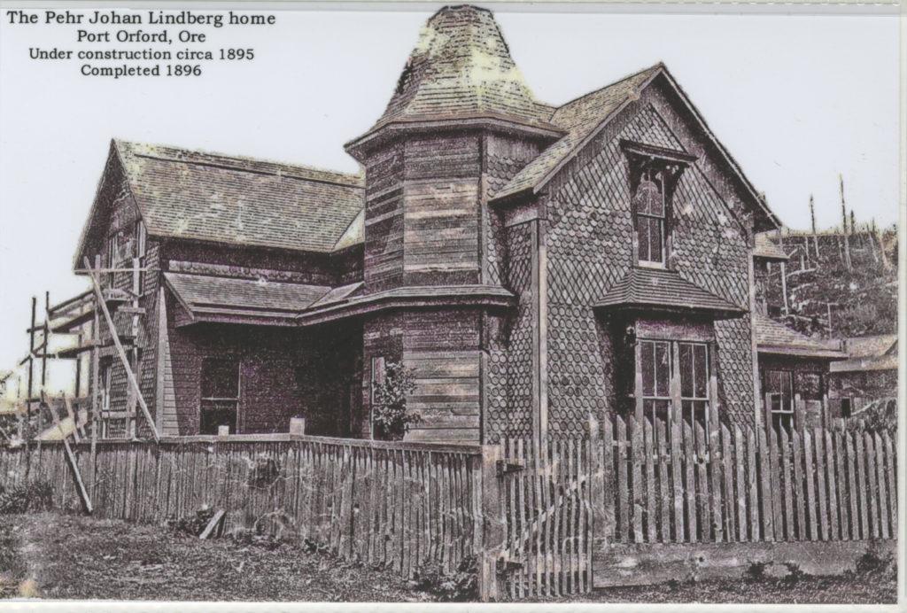 The Pehr Johan Lindberg Home Port Orford Or circa 1895 - Nix