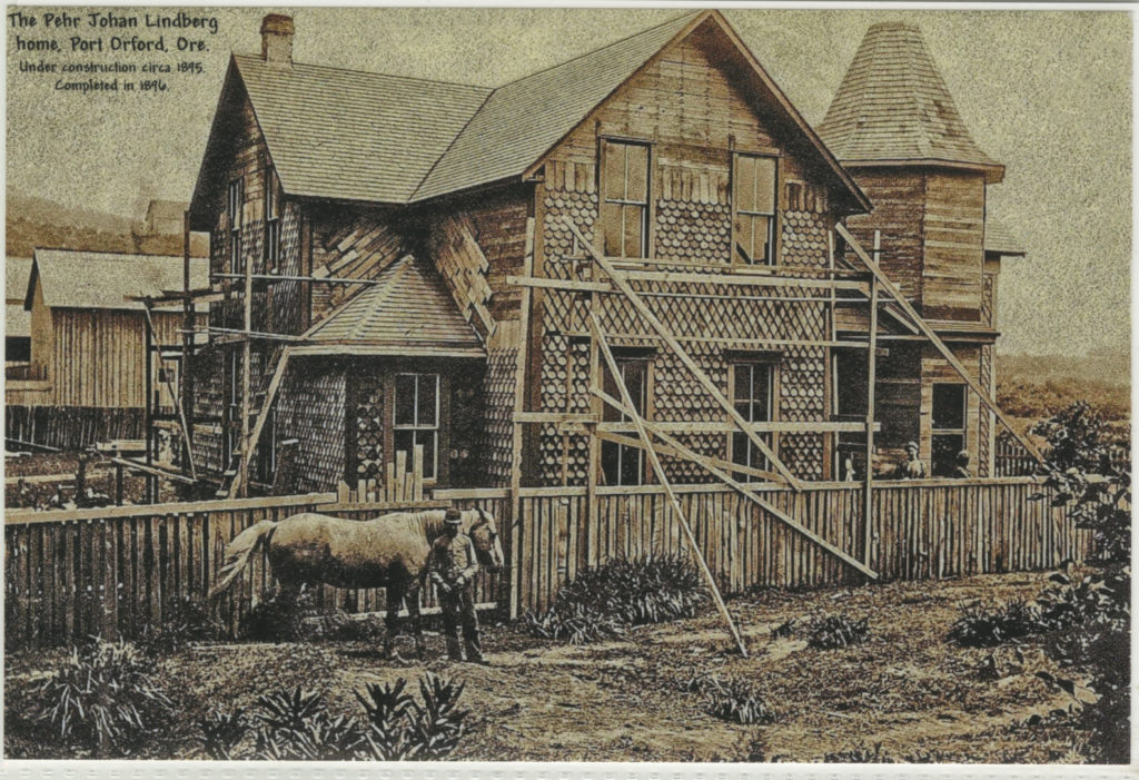 The Pehr Johan Lindberg home Port Orford Ore circa 1895 - Nix