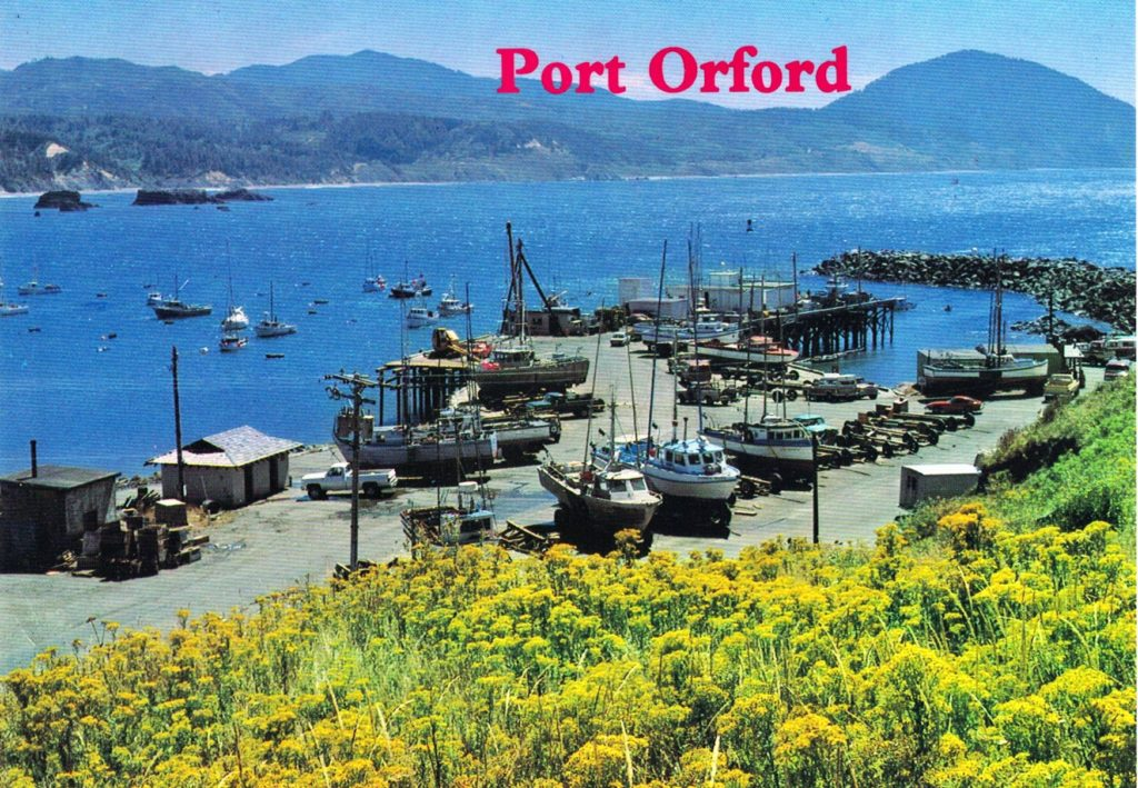Port Orford Dock and Jetty c1980