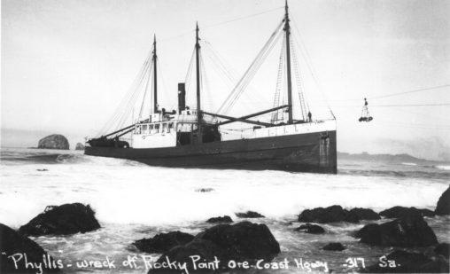 Maritime - Shipwreck SS Phyllis 1936-0309-4