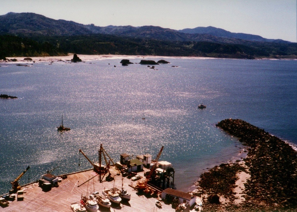Port Orford Dock and Jetty c2000