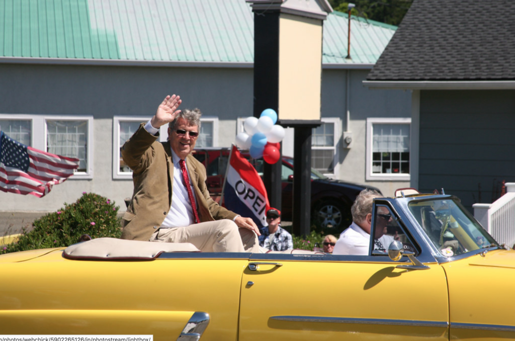 Mayor Jim in the 4th of July Parade in 2011
