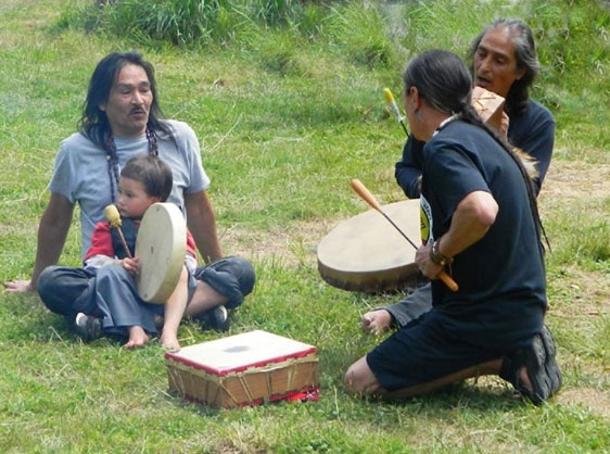 Making Music at the Annual Tseriadun Native Salmon Bake And Honor Ceremony