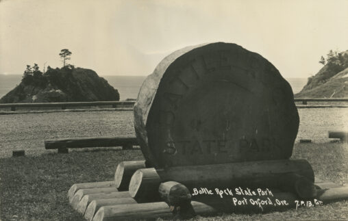 Battle Rock Wayside sign - George Soranson plaque on back