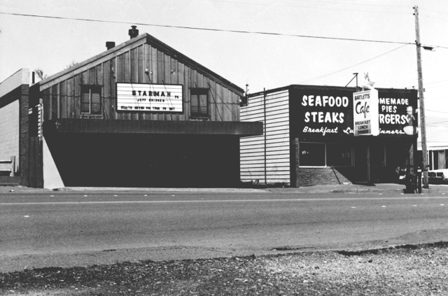 Building Port Orford Movie Theatre and Bartletts Cafe c1980s