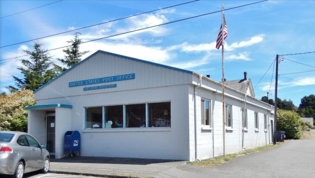 Port Orford Post Office in the present day. Photo by Cosmos Mariner.