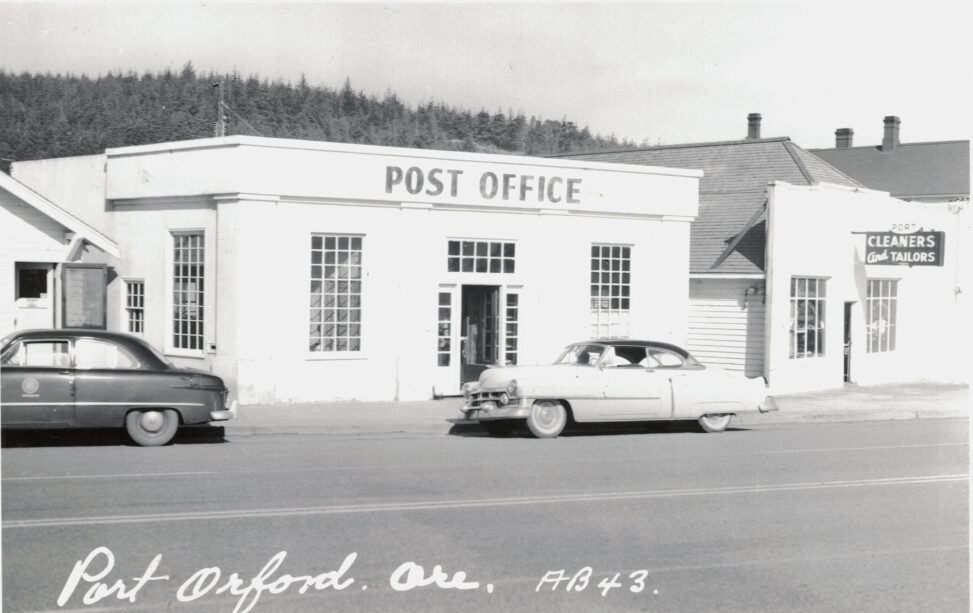 Port Orford Post Office when it was originally located on HWY 101 c 1950.
